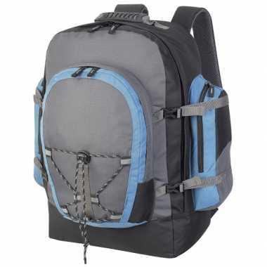 Goedkope  Backpackers rugtas grijs 40 liter rugzak