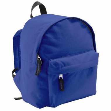 Goedkope boekentas blauw voor kinderen 9 liter rugzak