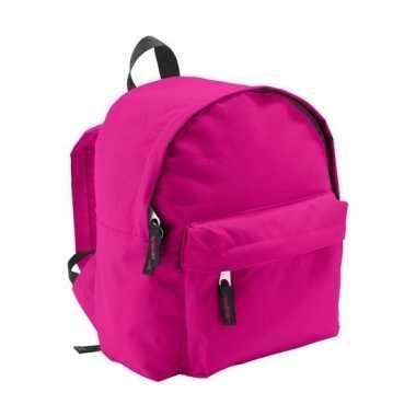 Goedkope boekentas fuchsia voor kinderen 9 liter rugzak