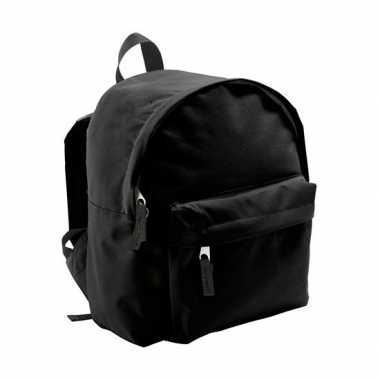 Goedkope boekentas zwart voor kinderen 9 liter rugzak