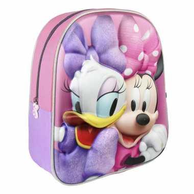 Goedkope disney minnie mouse/katrien duck school rugtas/rugzak voor peuters/kleuters/kinderen