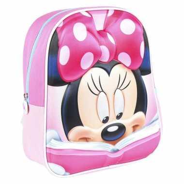 Goedkope disney minnie mouse met boek school rugtas/rugzak voor peuters/kleuters/kinderen