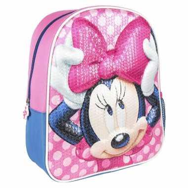 Goedkope disney minnie mouse pailletten school rugtas/rugzak voor peuters/kleuters/kinderen