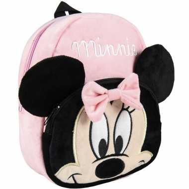 Goedkope disney minnie mouse pluche rugtas/rugzak voor peuters/kleuters/kinderen