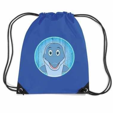 Goedkope dolfijnen rugtas / gymtas voor kinderen rugzak