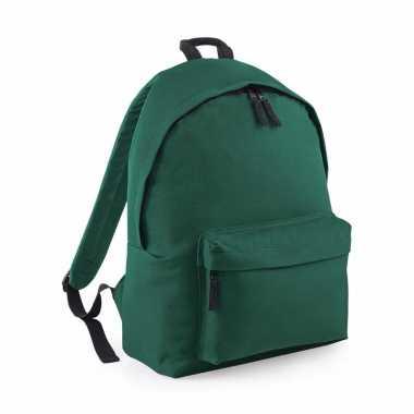 Goedkope donker groen gymtas rugzak voor kinderen