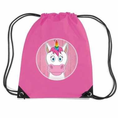 Goedkope eenhoorns rugtas gymtas voor kinderen rugzak