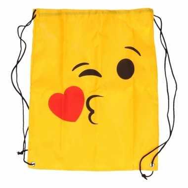 Goedkope gymtas gele smiley kus rugzak