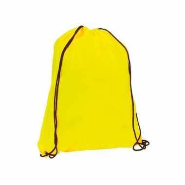 Goedkope  Gymtasje in neon geel rugzak