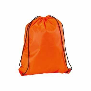 Goedkope  Gymtasje in neon oranje rugzak