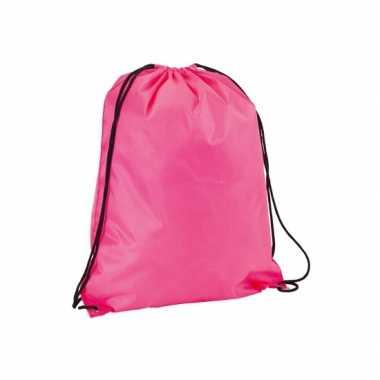 Goedkope  Gymtasje in neon roze rugzak