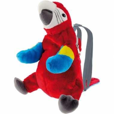 Goedkope knuffel rugzakje rugtasje ara papegaai vogels 32 cm knuffels kopen 10142531
