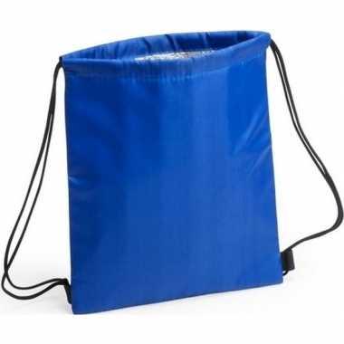 Goedkope koeler koeltassen blauw 27 x 33 cm gymtasje/rugzakje