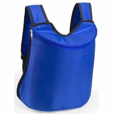 Goedkope koeler koeltassen blauw 40 cm gymtasje/rugzakje