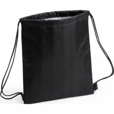 Goedkope koeler koeltassen zwart 27 x 33 cm gymtasje/rugzakje