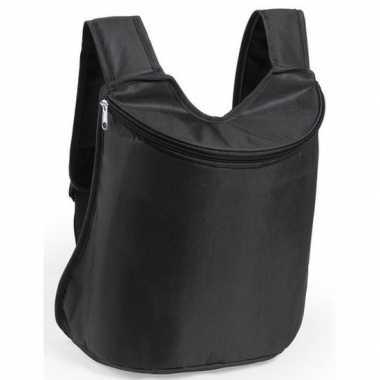 Goedkope koeler koeltassen zwart 40 cm gymtasje/rugzakje