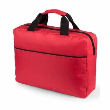Goedkope laptoptas rood 38 cm rugzak