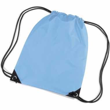 Goedkope  Lichtblauwe gymtas rugzak