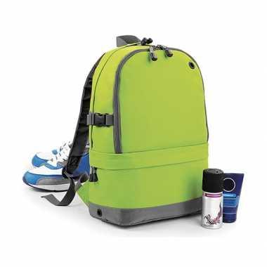 Goedkope limegroene backpack 18 liter rugzak