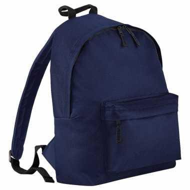 Goedkope navy blauw gymtas rugzak voor kinderen