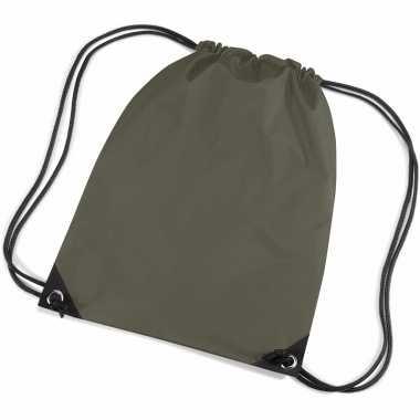Goedkope olijf groene tasjes voor kinderen rugzak