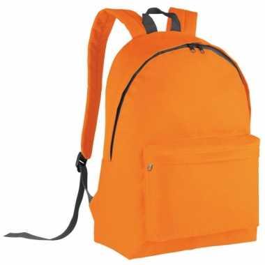 Goedkope  Oranje gymtas rugzak voor kids 38 cm