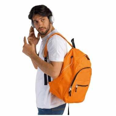 Goedkope  Oranje polyester reistas 38 cm voor volwassenen rugzak