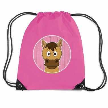 Goedkope paarden rugtas / gymtas voor kinderen rugzak