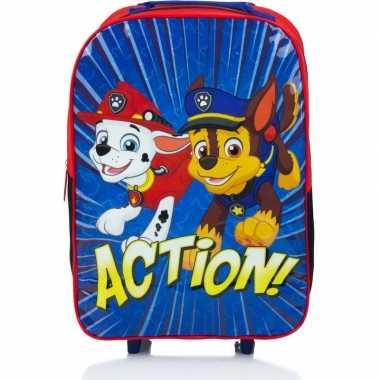 Goedkope paw patrol handbagage reiskoffer/trolley 42 cm voor kinderen