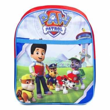 Goedkope paw patrol schooltasje 31 cm voor kinderen rugzak