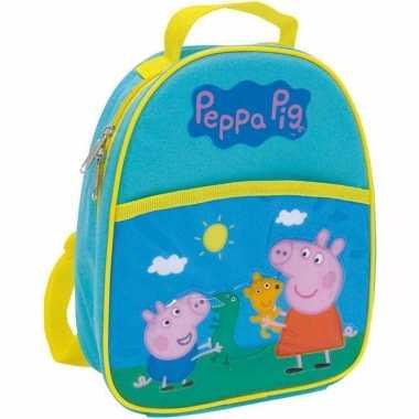 Goedkope peppa pig/big school rugtas/rugzak 25 cm voor peuters/kleuters/kinderen