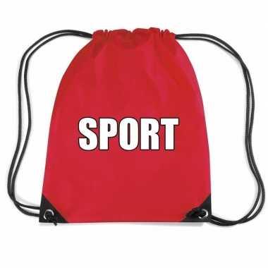 Goedkope rood sport rugtasje/ gymtasje kinderen rugzak