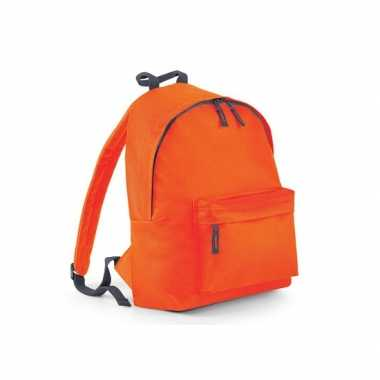 Goedkope  Rugtas oranje met18 liter inhoud rugzak