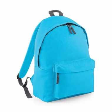 Goedkope schooltas turquoise 18 liter rugzak