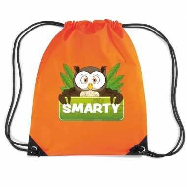 Goedkope smarty de uil rugtas / gymtas oranje voor kinderen rugzak