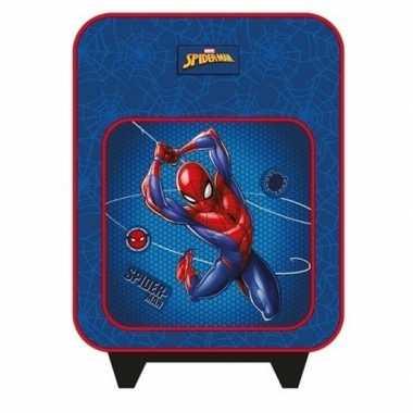 Goedkope spiderman handbagage reiskoffer/trolley 35 cm voor kinderen