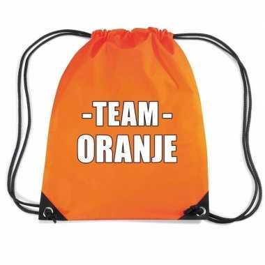 Goedkope team oranje rugtas voor bedrijfsuitje rugzak