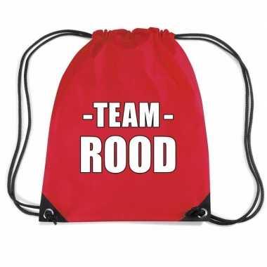 Goedkope team rood rugtas voor bedrijfsuitje rugzak