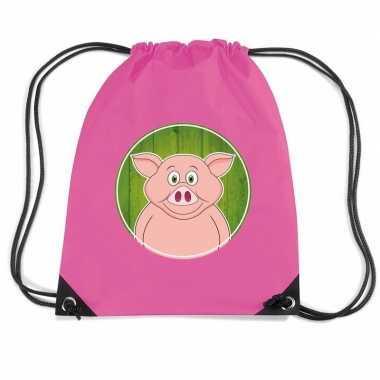 Goedkope varkens rugtas / gymtas voor kinderen rugzak