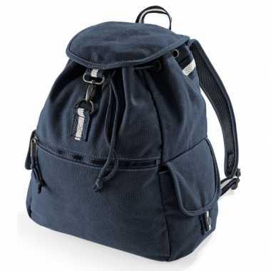 Goedkope  Vintage marineblauwe rugzak 18 l