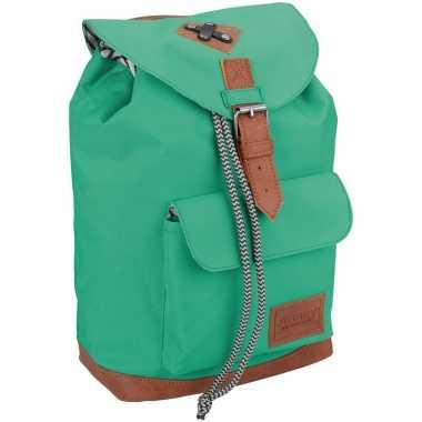 Goedkope vintage rugzak/rugtas mint groen 29 cm voor kinderen