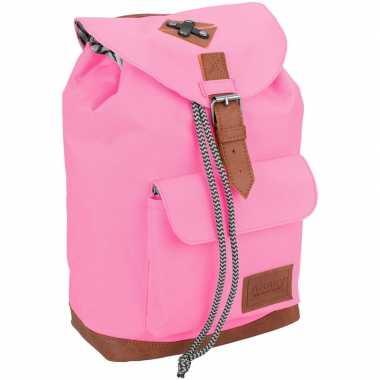 Goedkope vintage rugzak/rugtas roze 29 cm voor kinderen