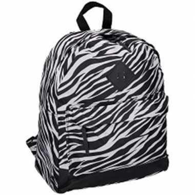 Goedkope zebra print rugtas/rugzak 13 x 31 x 43 cm 19 liter voor kinderen/volwassenen