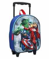 Goedkope avengers handbagage reiskoffer trolley 31 cm voor kinderen rugzak