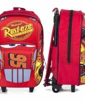 Goedkope cars handbagage reiskoffer trolley 38 cm voor kinderen rugzak