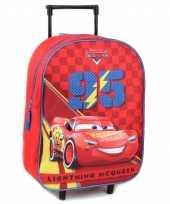 Goedkope cars handbagage reiskoffer trolley 39 cm voor kinderen rugzak
