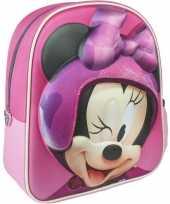 Goedkope disney minnie mouse rugzakken rugtassen 25 x 31 cm voor meisjes kinderen