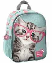 Goedkope katten poezen school rugtas rugzak 28 cm voor peuters kleuters kinderen