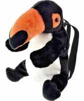 Goedkope knuffel rugzakje rugtasje toekan vogels 32 cm knuffels kopen