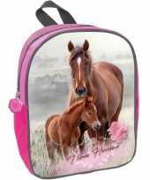 Goedkope paard en veulen i love horses kleuter peuter schooltasje roze 29 x 23 x 10 cm rugzak